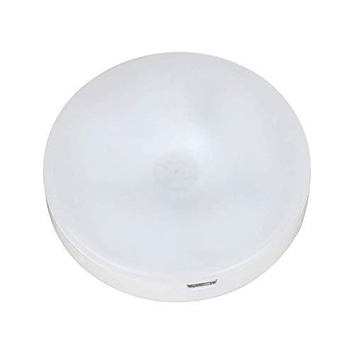 WINIAER Luz táctil con sensor de luz LED para gabinete, dormitorio, luz magnética para armario, luces LED de noche para cocina, escaleras, bar, batería incorporada, luz blanca cálida