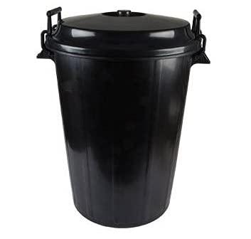 chiner - Cubo de Basura Comunidad Plastico Negro 100