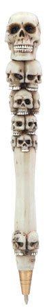 Kugelschreiber Totenkopf SKULL PEN 6Stück Collectible Skelett Gothic Bleistift Schule Netzteil