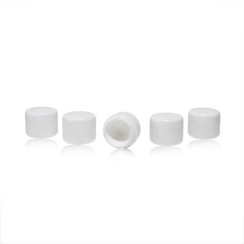 Un ensemble lucratif de conteneurs vides avec un couvercle pour remplir de gel, couleur blanc, plastique, à double paroi - 5x5g