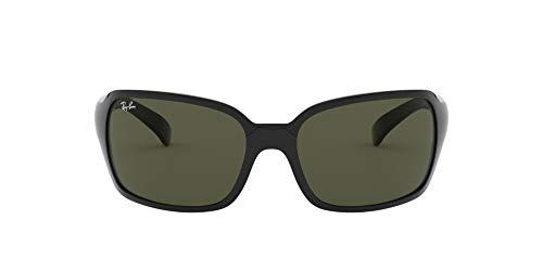 Ray-Ban Women's RB4068 Sunglasses, Black/Crystal Green, 60 mm