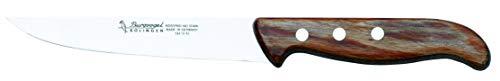 Burgvogel SOLINGEN 0 Viande Tranchant, 15 cm, Acier Inoxydable, Lavable au Lave-Vaisselle, Manche en Bois Brun, série de Couteaux de ménage