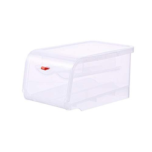 FEGSX 0414 - Contenitore automatico per uova per uso domestico, scatola per frigorifero, cucina, doppio strato, colore: arancione