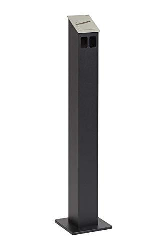 HISKA Standascher Aluminium Pulverbeschichtet (Schwarz)