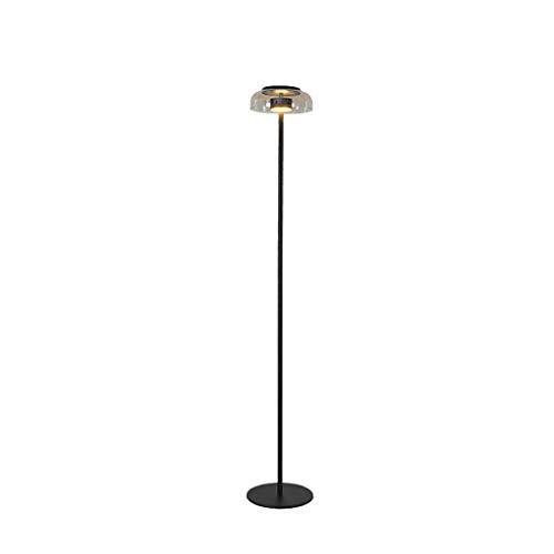 Lámpara de pie, iluminación interior, de pie, de metal, para salón, de pie, delgada, con pantalla de cristal, lámpara de lectura para salón, dormitorio, lámpara de pie, lámpara de lectura