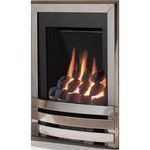 Flavel Windsor Inset LFE Contemporary Gas Fire Coal Bed - Silver