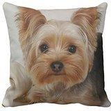 Funda de almohada con estampa de un perro Yorkshire Terrier Home,...