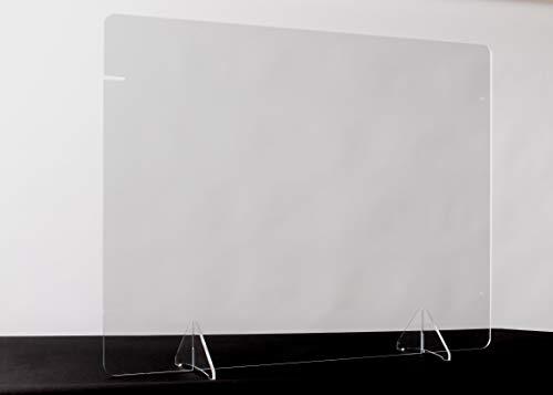 Desktop 2-in-1 Sneeze Guard - 32' x 24' Freestanding Shield - Landscape or Portrait