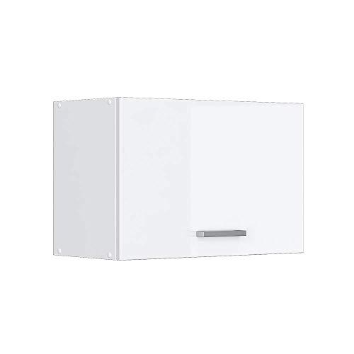 Vicco Küchenschrank Hängeschrank Unterschrank Küchenschränke Küchenunterschrank Arbeitsplatte, Möbel verfügbar in anthrazit und weiß (weiß ohne Arbeitsplatte, Hängeschrank 60 cm (flach))