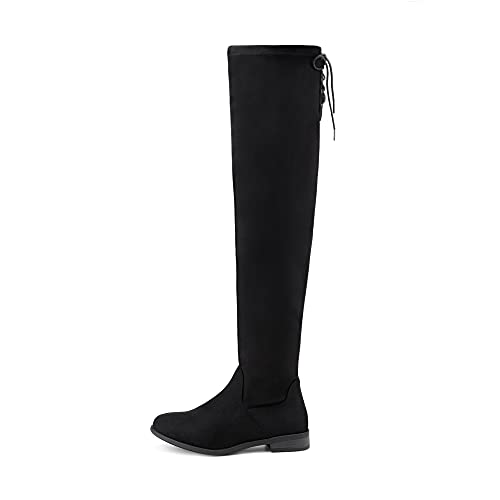 DREAM PAIRS Women's Uplace Black Suede Winter Boots