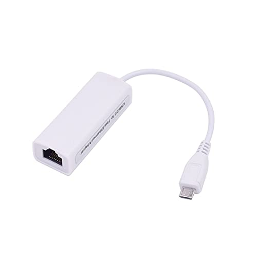 OocciShopp Adaptador Ethernet, Interfaz de Cable Micro USB a Ethernet Adaptador Ethernet OTG Internet con Cable Android Tablet Pc Tarjeta de Red (Blanco)