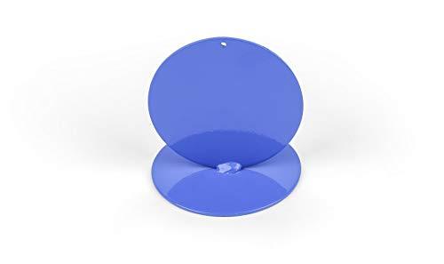 Anlaufmarkierung aus Metall, blau