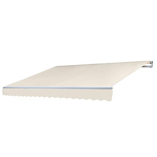 Mendler Alu-Markise T791, Gelenkarmmarkise Sonnenschutz 4,5x3m - Polyester Creme
