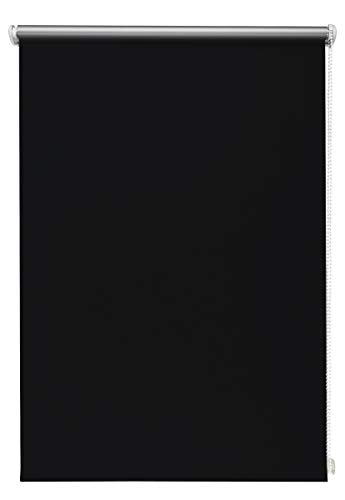 Beyond Drape Thermo-Rollo ohne Bohren Verschiedene Größen und Farben Verdunkelungsrollo Seitenzugrollo Klemmrollo Blackout Silberbeschichtung Schwarz 100x150 cm