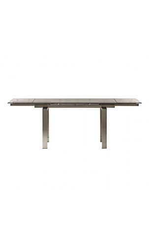 CAMINO A CASA - Table à rallonges Verre et Chrome Empire 140-220 cm