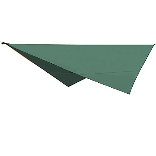 KUYH Tarpa De Campamento Impermeable, Toldo Al Aire Libre Portátil Multifuncional, Resistencia Al Desgarro De La Tela De Oxford 210T, Adecuado para Acampar Viajes Al Aire Libre (3.2 * 2.5M),Verde