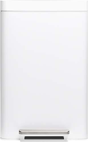 Kohler K-20940-STW 13-Gallon Step Trash Can, White Stainless
