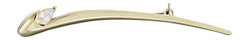 Hobra-oro elegante broche 585 MIT circonios - Broche Oro 14 KT aguja