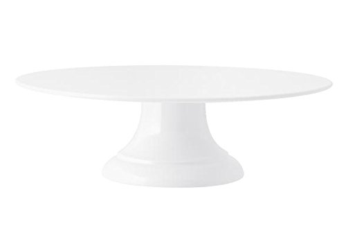 H&H Plato con pie para Torta, Melamina, Blanco, 10 cm/Diámetro 30 cm