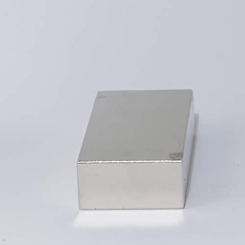 MTS Magnete - Imán de neodimio (N52, 80 x 40 x 20 mm, extrafuerte, tamaño grande, 220 kg)