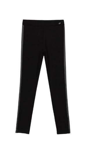 Tiffosi Legguins largos elásticos de niña en color negro con franja lateral - NEGRO, 4