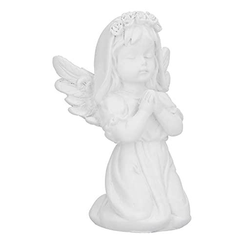 AUNMAS Betender Engel Statue, Kniender Betender Engel Engel Figur Handwerk für Home Office Desktop Dekoration, Hausgarten Wächter Dekorative Kirche Flügel Engel Statue, Weiß