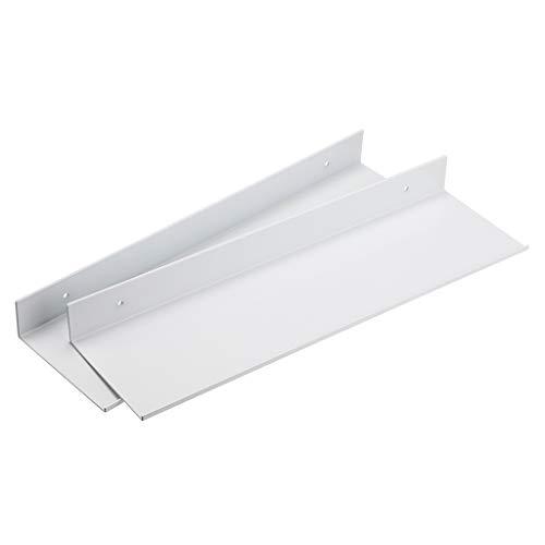 Sumnacon Juego de 2 estantes flotantes de aleación de aluminio montados en la pared, color blanco