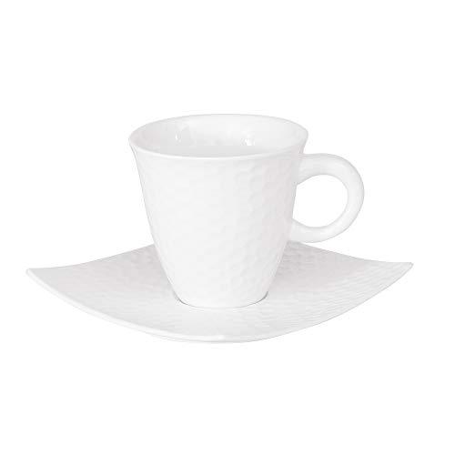 TASSE / SOUS TASSE CAFE 10 CL DUNE (LOT DE 6)