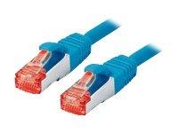Tecline 71515B - Cavo Ethernet categoria 6 con Antipiega Stretto (15 m), Colore: Blu