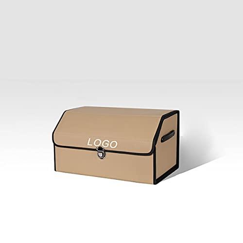 Cuero Organizador Maletero Coche para MINI Cooper, Plegable Organizador de almacenamiento con LOGO, Bolsa Maletero Coche con Mango Sturdy Base Antideslizante