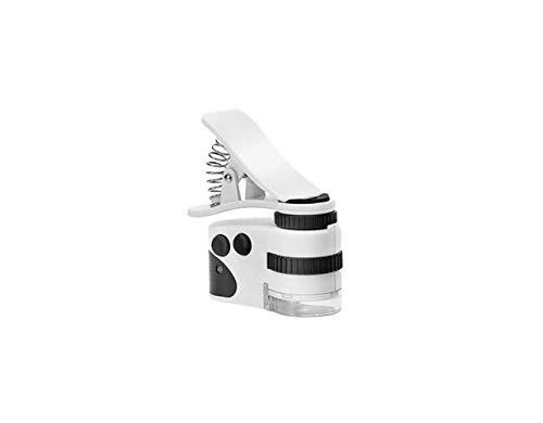 HD Draagbare Microscoop, Handheld/Mobiele Vergrootglas, met LED Licht, 360 graden Stereo Rotatie, Optische Lens Plastic Body, Diamond, Sieraden, Print, Stempel, Textiel, Antiek - 50X, 60X Optioneel, Maat Naam: