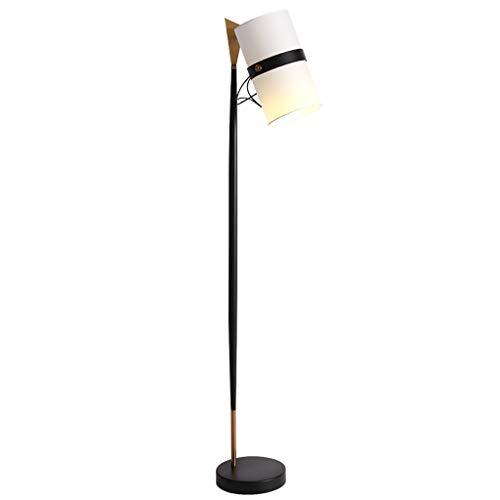 Lámpara de pie para iluminación Decorativa Cabezal de la lámpara giratoria Pantalla de Tela Cuerpo de Hierro Lámpara de Mesa Vertical Altura Total 175 cm