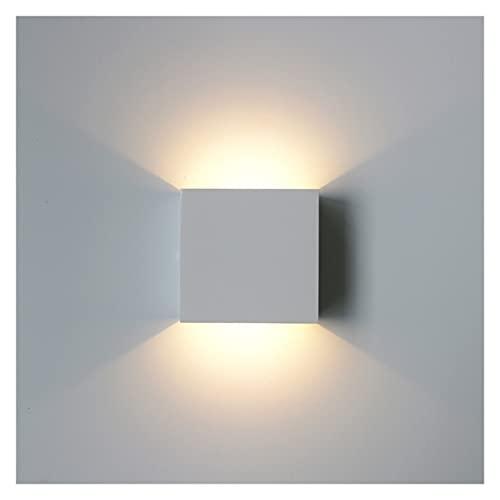 ALOMIN 6W LED lámpara de Pared Sala de Estar Dormitorio Aluminio Aluminio Superior e Inferior lámpara de Pared lámpara (Color Temperature : Warm White (2700-3500K), Lampshade Color : Silver)