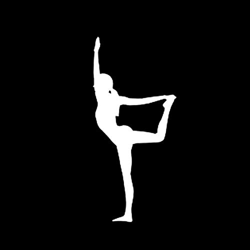 SUIFENG Car Stickers 7.9x17.5CM Interesting Yoga Fitness Decor Vinyl Car Modelling Sticker Bumper Window