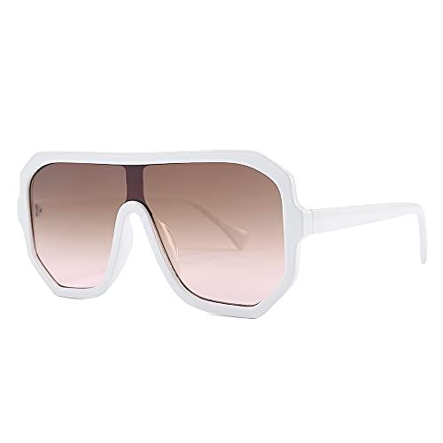 AMFG Gafas de sol Plaza de la Moda Hombre Decoración al aire libre Estilo de calle de moda Gafas de sol de moda (Color : E)