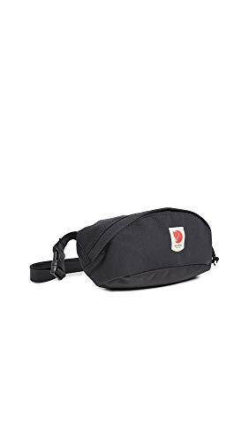 Fjallraven Ulvö Hip Pack Medium Sports Backpack, Unisex-Adult, Black, One Size