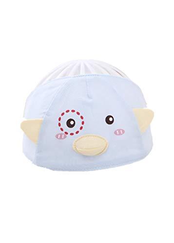 YANHUIGANG Chapeau de Plage Chapeau Summer Cute Super Cute Thin cotton-38-43cm_One Size_Little Bird Point-Blue