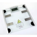 """XJ All-in-One Body Weight Scale (Glass top) (13"""" H x 13"""" W x 3"""" D)"""