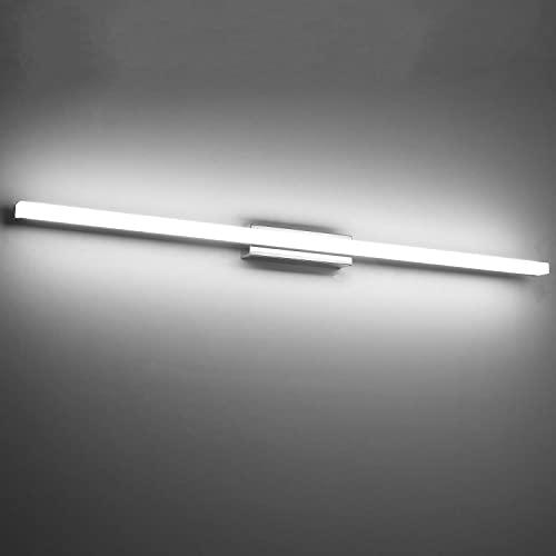 Yafido Aplique Espejo Baño Interior LED 90CM luz Baño Lámpara de Pared Espejo Iluminación para Maquillaje 20W Blanco Frío 6000K No-regulable