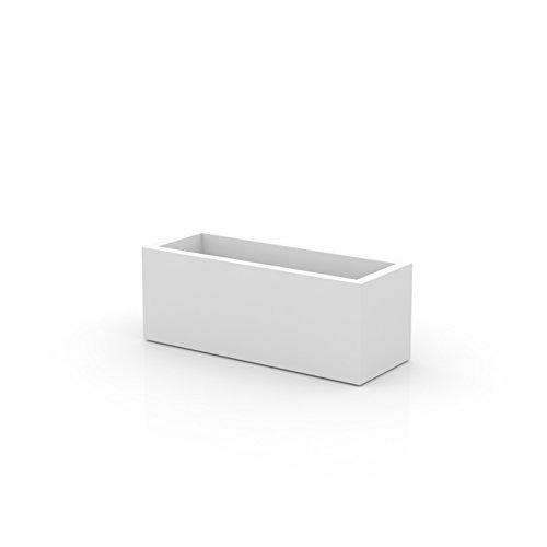 Vondom 41650 Jardinera, Blanco, 50x120x50 cm