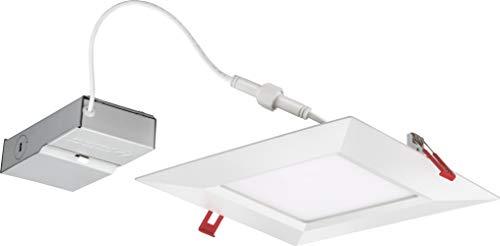 Lithonia Lighting WF8 SQ S 30K40K50K 90CRI MW M6 LED Color Temperature Selectable Ultra Thin Recessed Downlight, 3000K   4000K   5000K, White