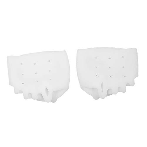 2 x Silikon Zehenspreizer Zehentrenner Reibungsschutz für alle Zehen bei Hallux Valgus - Weiß