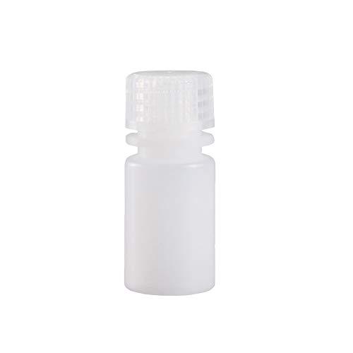 JRLGD HDPE Weithalsflaschen aus Kunststoff mit Kappen, Laborprobenflasche, Reagenzflasche, 15 ml, weiß, 20 Stück