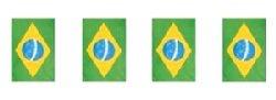 Smiffy's Novelties Direct Guirlande de drapeaux Motif drapeau du Brésil rectangulaire de 9 m de long 32 drapeaux Polyester