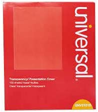 Universal Office Products UNV21010 SEAL limited product Transparent Black Sheets44; Ranking TOP7