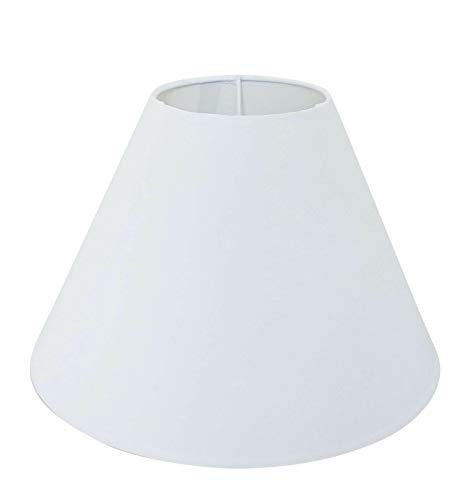 Wogati Premium Lampenschirm 20 cm x 16 cm x 9 cm/Tischleuchte/Stehlampe/Weiß/Stoff / E14 /E27