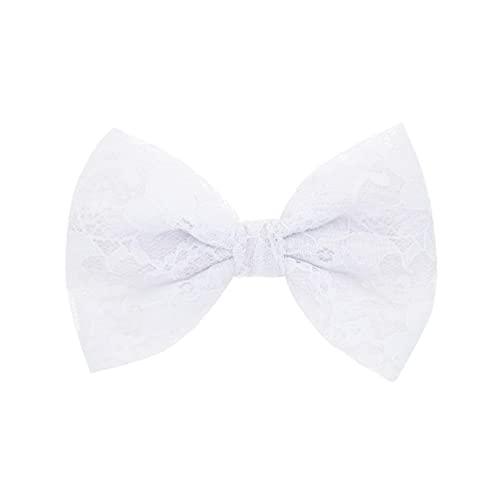 Pince à cheveux noeud pour enfants papillon (blanc)