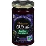 Polaner All Fruit Seedless Blackberry Spreadable Fruit 10oz (Pack of 2)
