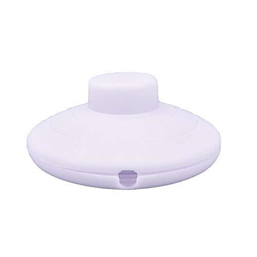 SENRISE 2A Interruptor de pie para pie y lámpara de pie (blanco)