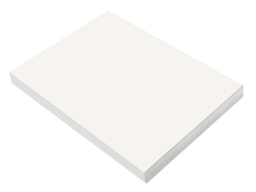 SunWorks Heavyweight Construction Paper, 9 x 12 Inches, White, 100 Sheets